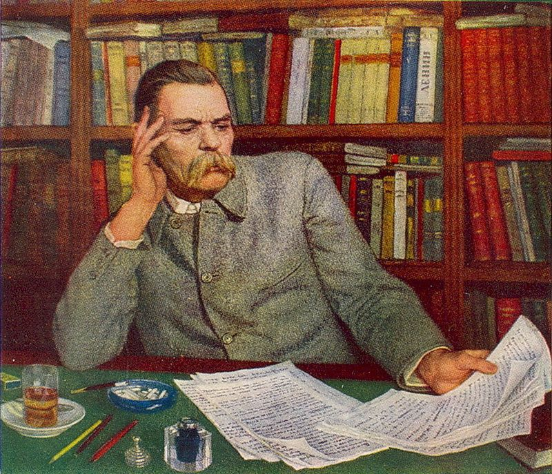 Portrait of Maxim Gorky - Nikolay Bogdanov-Belsky - WikiArt.org ...