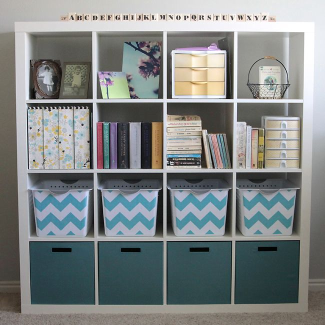 easy tips for turning plain office drawers into pretty room accessories with scrapbook paper and paint. from www.itsalwaysautumn.com