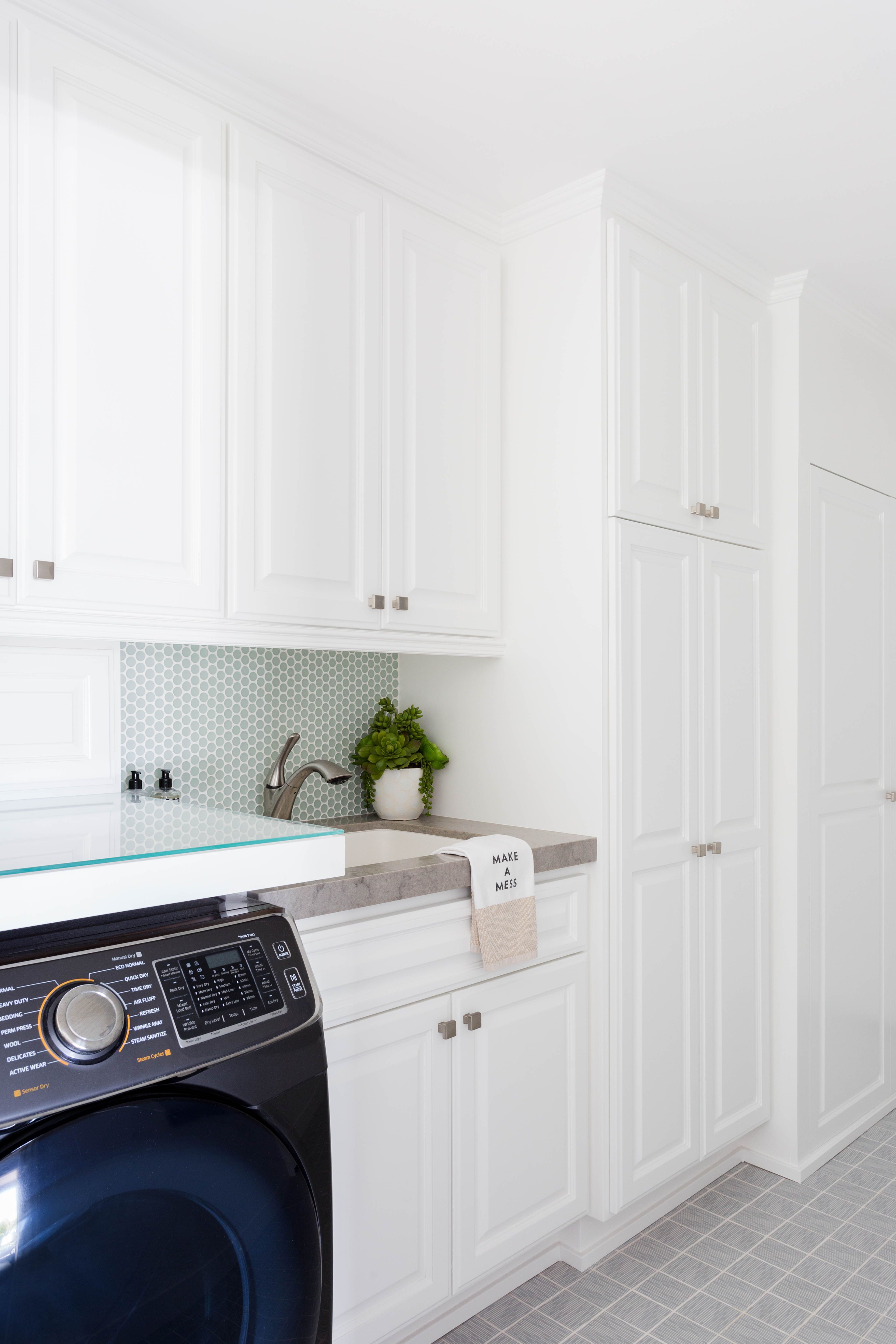 Project Dover Reveal Laundry Room Laundry Room Inspiration White Kitchen Paint