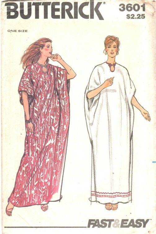 1967 Vintage Sewing Pattern B30-to-38 CAFTAN 1328