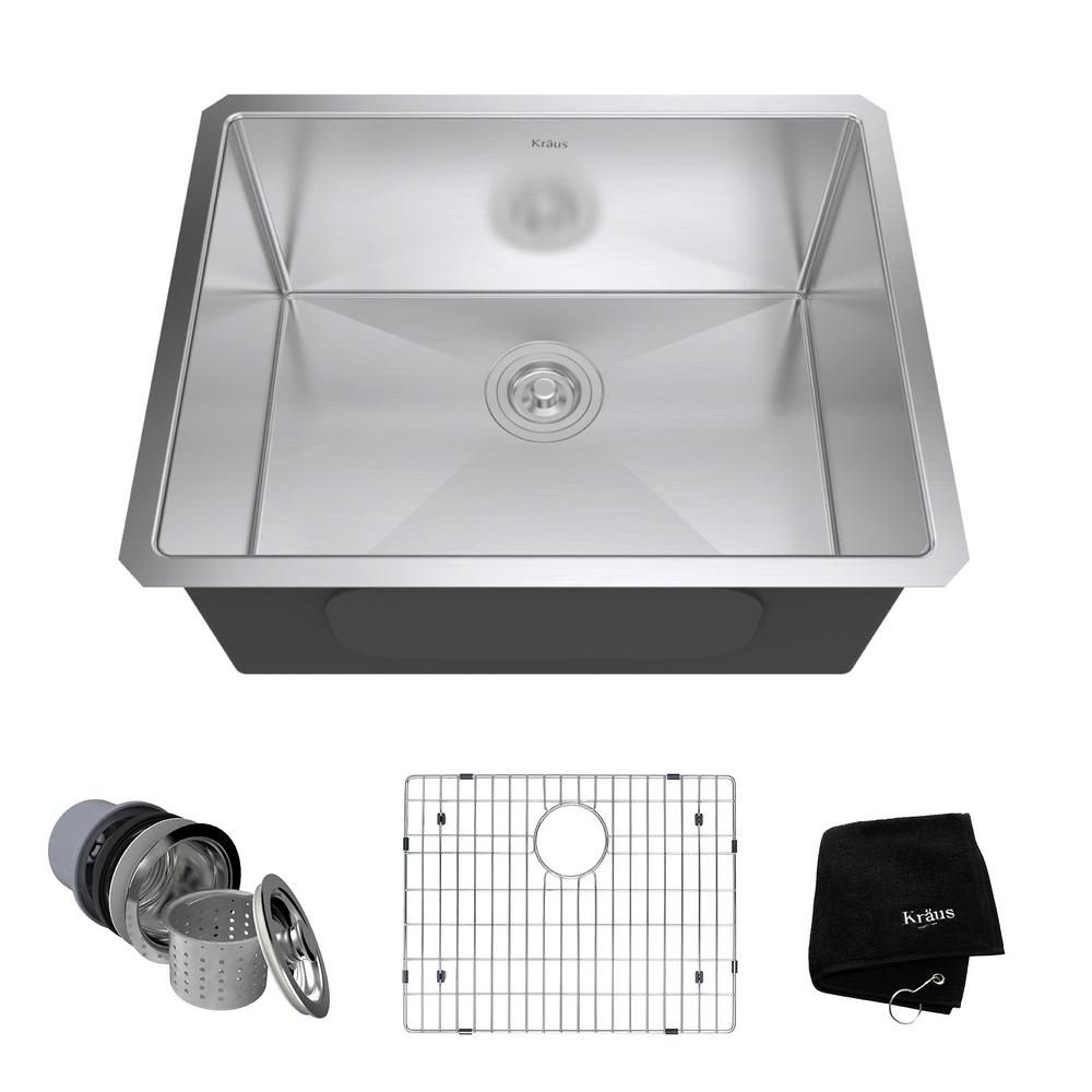 kraus standart pro 23in 16 gauge undermount single bowl stainless rh in pinterest com