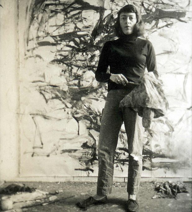 Joan Mitchell US Abstract Expressionist Painter And Printmaker Who Exhibited At The Landmark Ninth Street Show With Jackson Pollock Willem De Kooning
