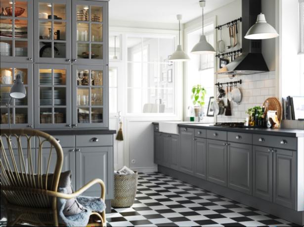 akurum liding grey kitchen doors provide a crisp clean look for a rh pinterest com