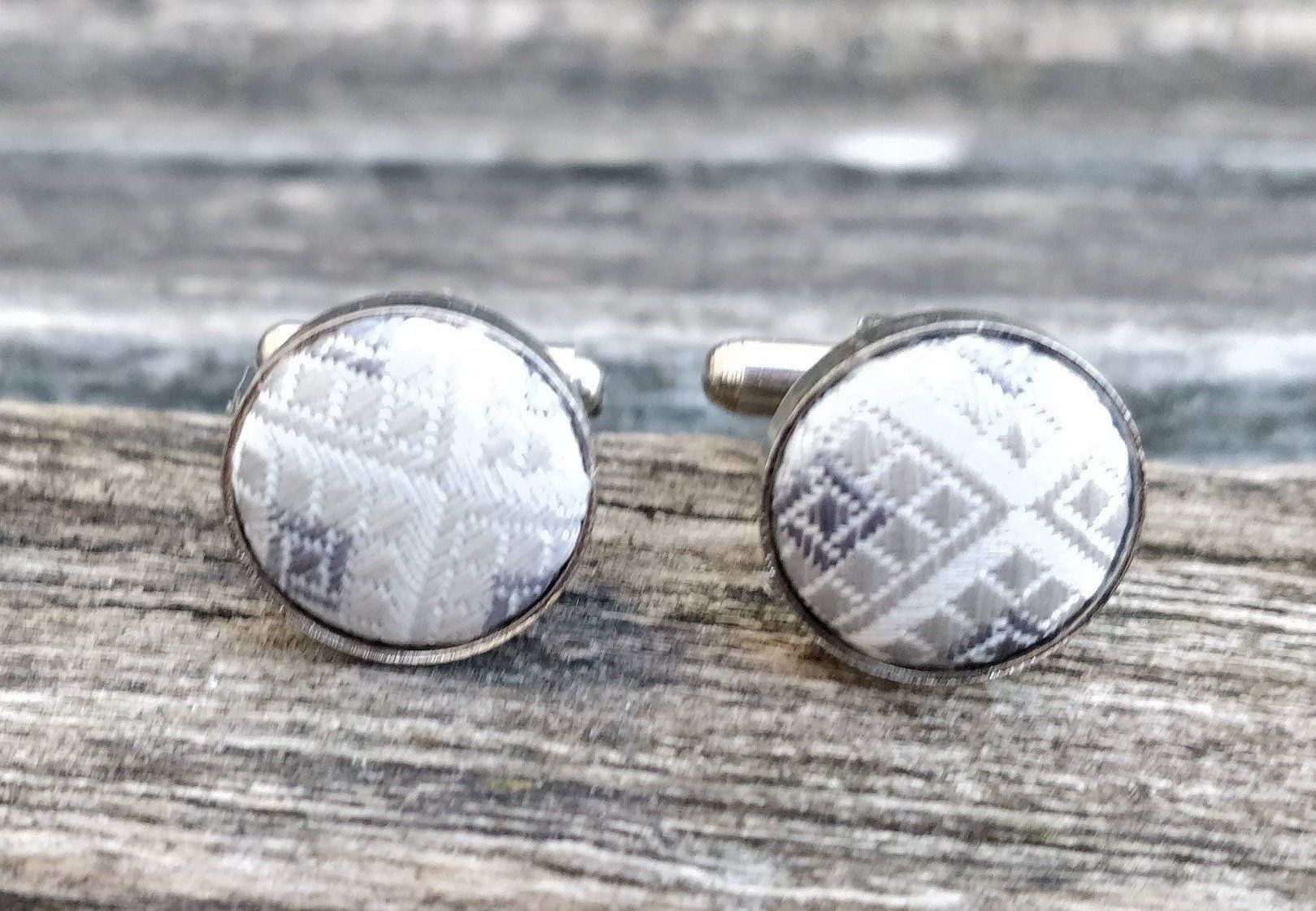 Vintage gray cufflinks