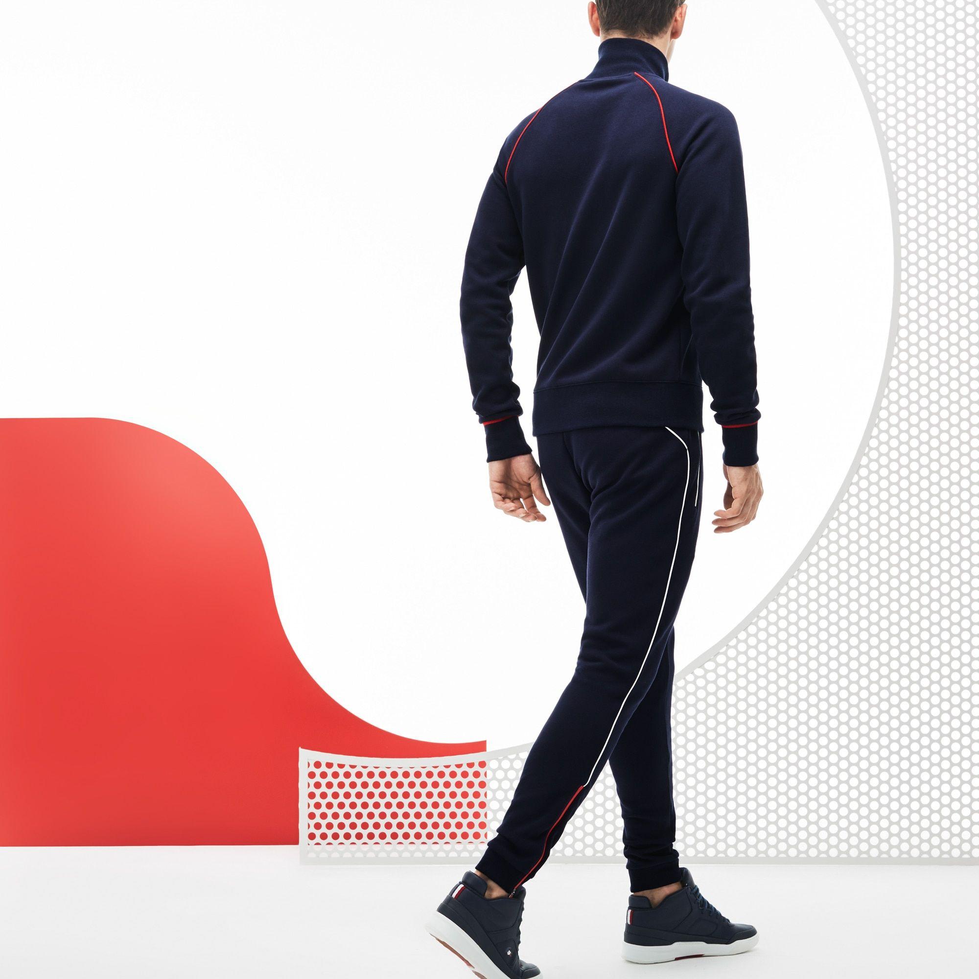 e5158545f6 Pantalon de survêtement Lacoste SPORT en molleton Collection France  Olympique | LACOSTE