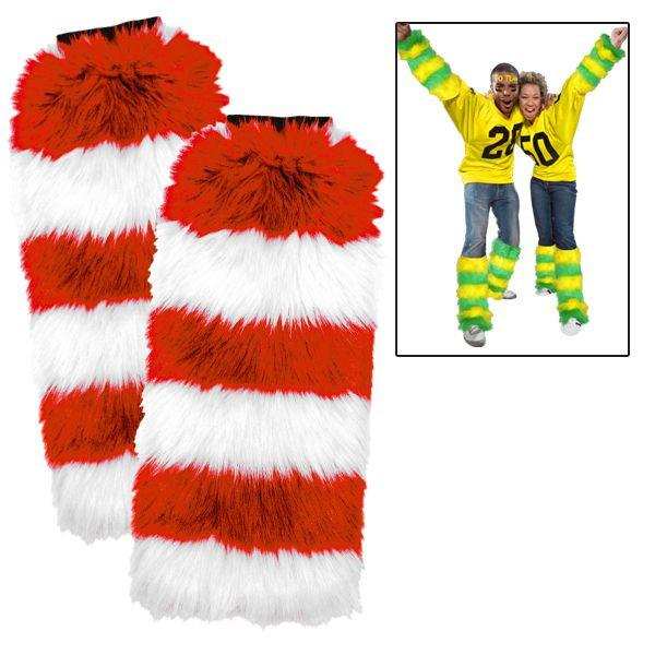 Leg Warmers 2 Pack - Red/White