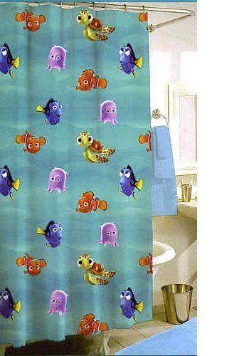 Disney Finding Nemo Shower Curtain W 12 Hooks Jay Franco Http Www Amazon Com Dp B000mm3uee Ref Cm Sw R Pi Dp Lysktb1nmcg0tskp Childrens Shower Curtains