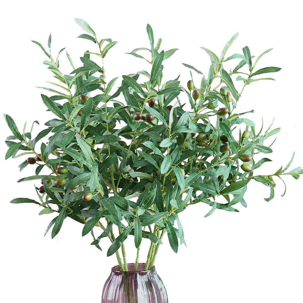 artificial plants for office decor. Artificial Plants, Htmeing 28\u0027 Olive Branches Fake Plants Green Leaves Fruits For Home Office Decor