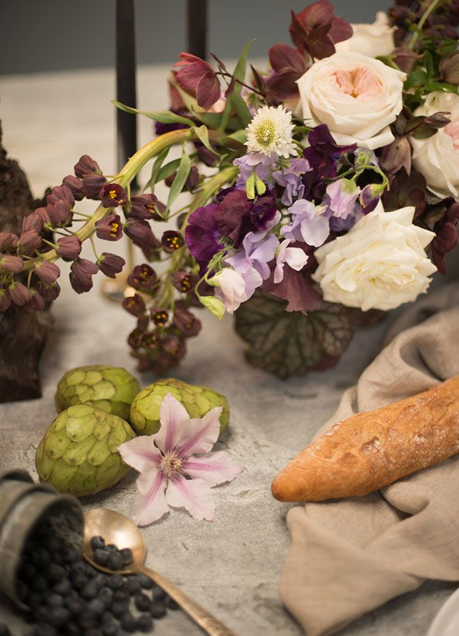 purple themed bridal shower%0A Organic Luxe Bridal Shower