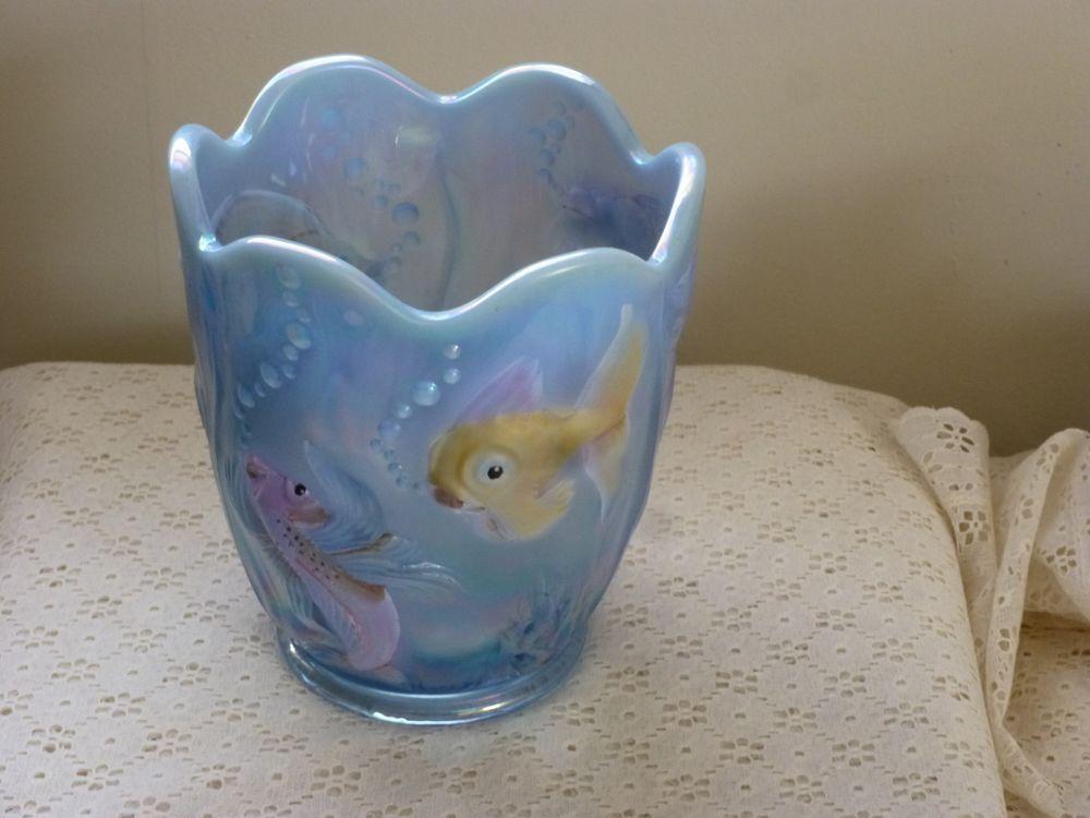 home goods decorative vases.htm fenton 9 opalescent atlantis carnival glass goldfish koi fish  carnival glass goldfish koi fish
