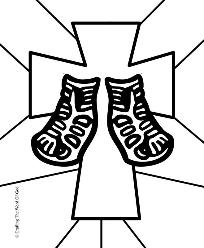 shoes of gospel of peace coloring page | Sandals Of Peace- Coloring ...