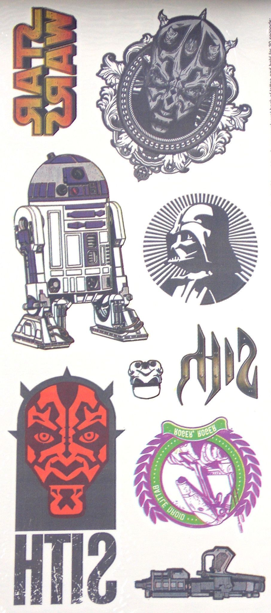 Lot Of 3 Star Wars Coloring Book 20 Temporary Tattoos Symbols Of