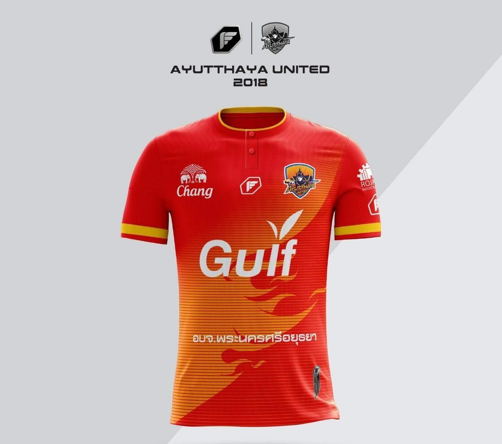 d175a0a40 Authentic 2018 Ayutthaya United Thailand Football Soccer League Jersey Shirt   Pegan  AyutthayaUnited