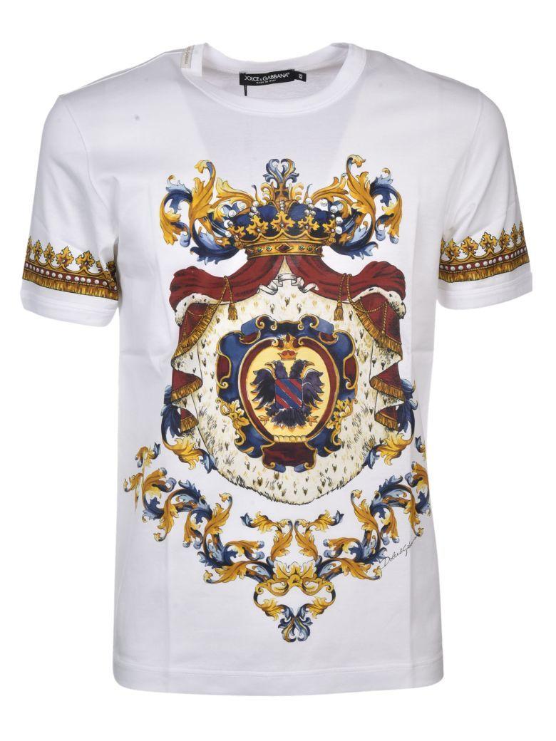 angemessener Preis mehr Fotos großartige Qualität DOLCE & GABBANA Dolce & Gabbana Regal Print T-shirt ...