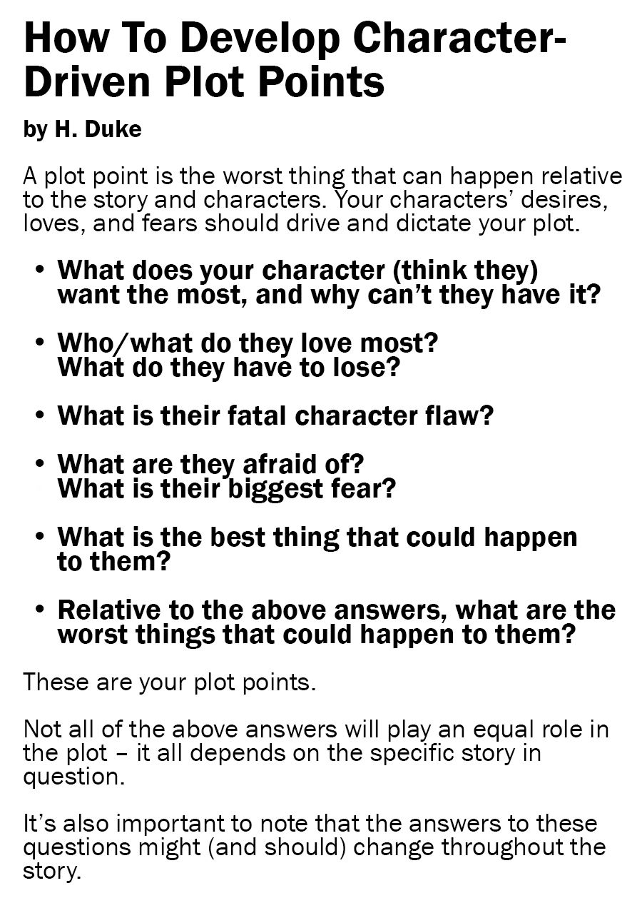 6 Questions To A Character-Driven Plot
