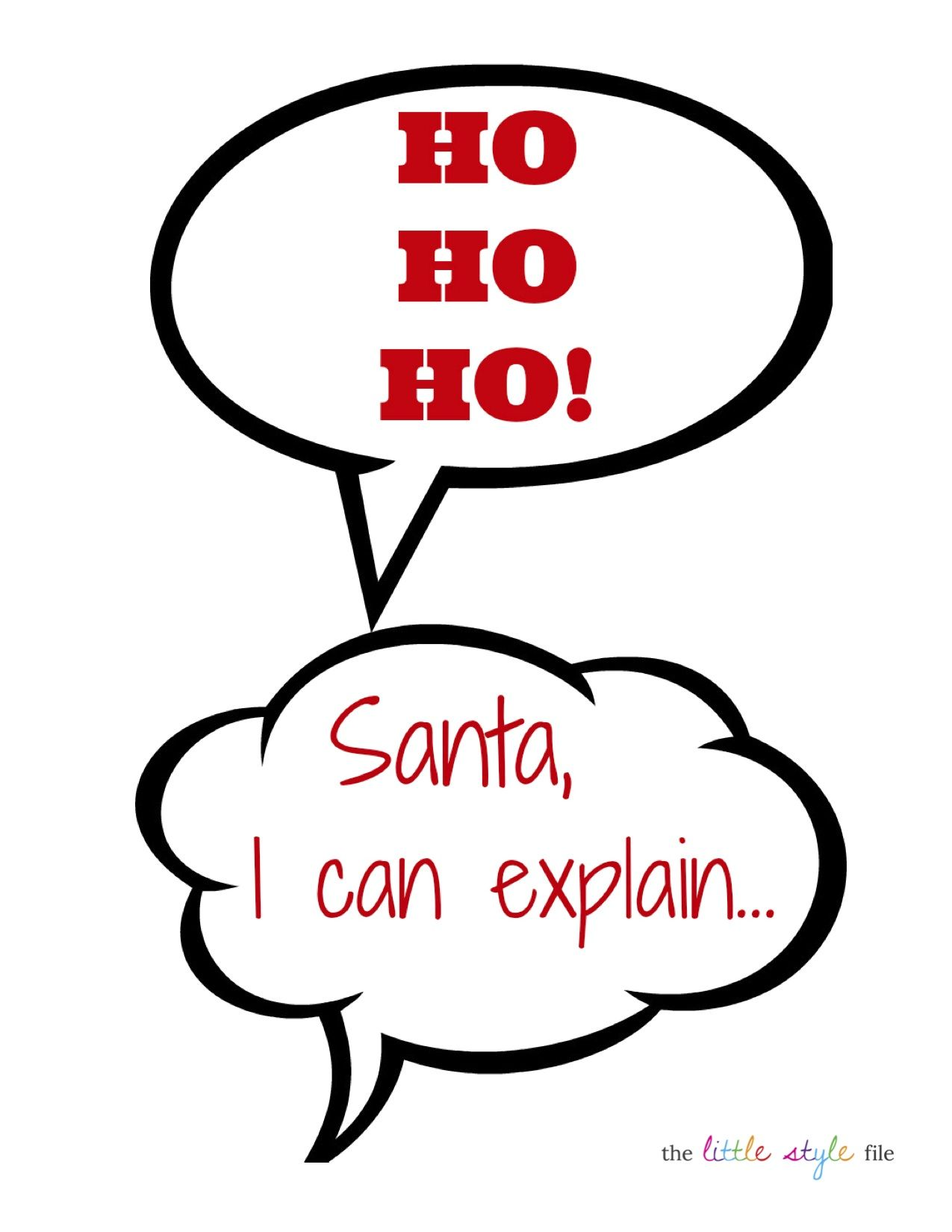 holiday photo booth printables | It is Christmas time | Pinterest ...