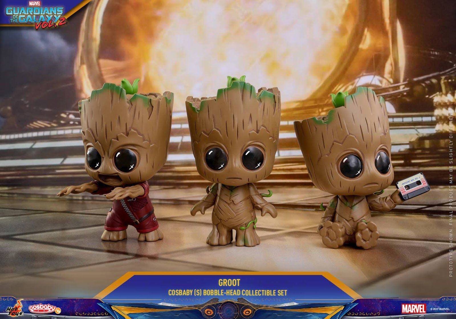 Guardians of the Galaxy Vol 2 Cosbaby Groot Bobble-Head PVC Figure New In Box