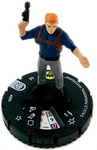 Marvel Heroclix: Nick Fury, Agent of Shield Shield Paranormal Investigator 008a -- Huge discounts available : FREE Toys and Games