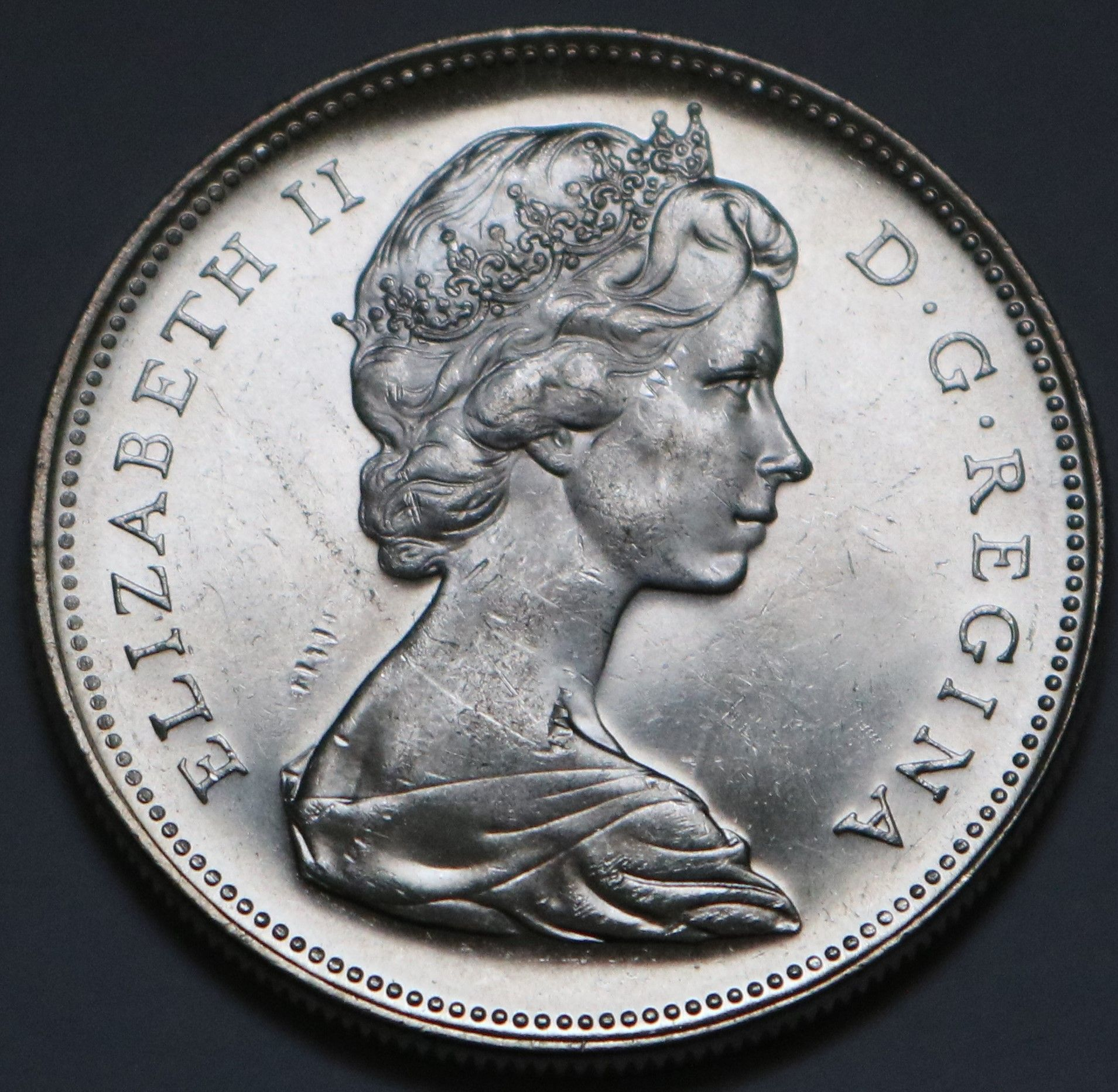 Details About 1966 Canada Large Beads Silver Dollar Coin Saviez Vous Que
