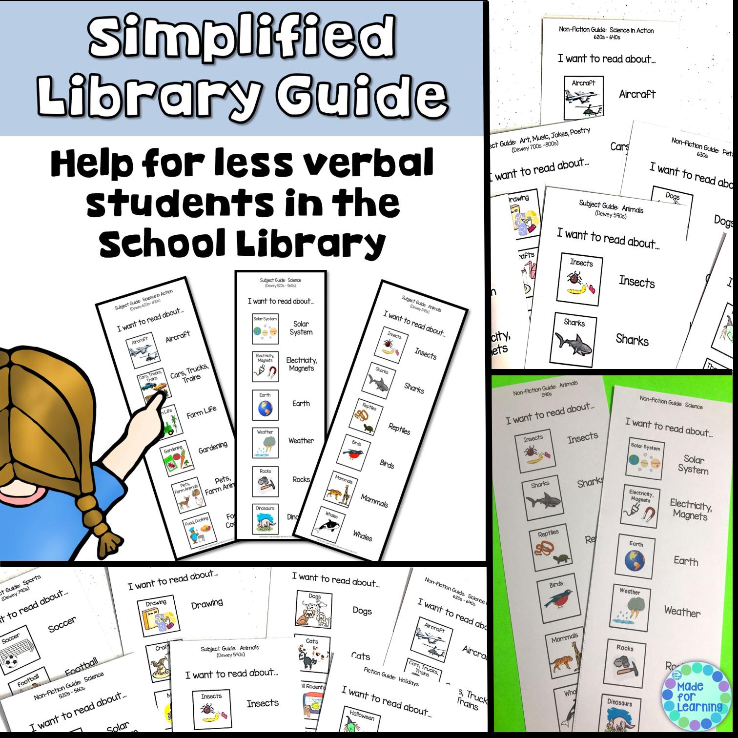 Dewey Decimal System Library Guide Special Needs