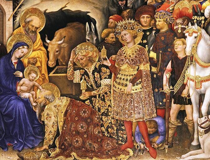 Adorazione dei Magi Gentile da Fabriano | Fabriano, Medieval art, Epiphany