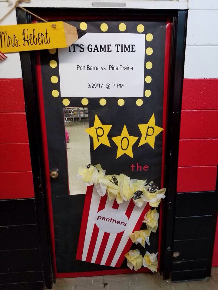 Classroom Door Decoration Homecoming Football Game Pop The