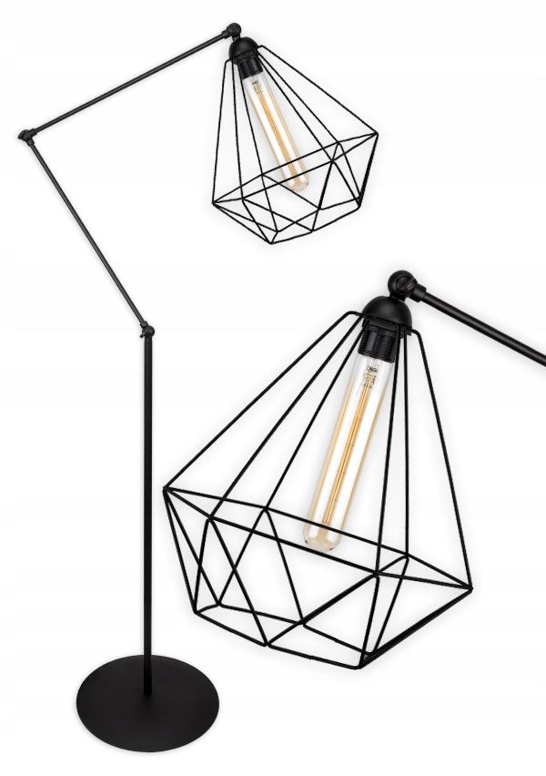 Modna Stojaca Lampa Podlogowa Druciak Loft Edison Lamp Home Decor Decor