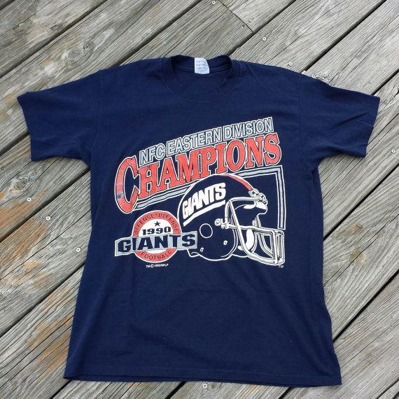 RARE Vintage 1990 New York Giants Football Tee Shirt - Eastern ... cfda5ca1e