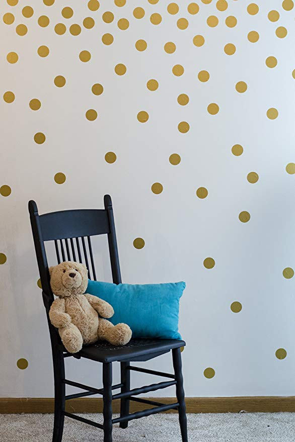 Amazon Com Gold Wall Decal Dots 200 Decals Easy To Peel Easy