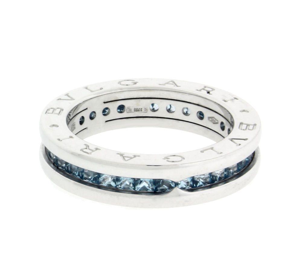 4d04e7aa8fafa Bvlgari B.Zero1 Blue Topaz eternity ring in 18k gold size 6.5 Ref ...