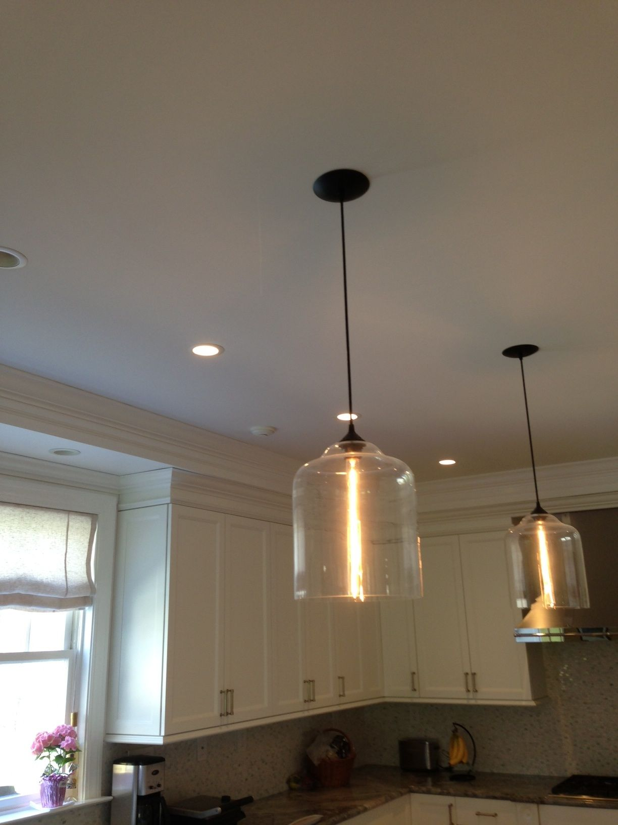 hand blown glass pendant over island island light fixtures rh pinterest com