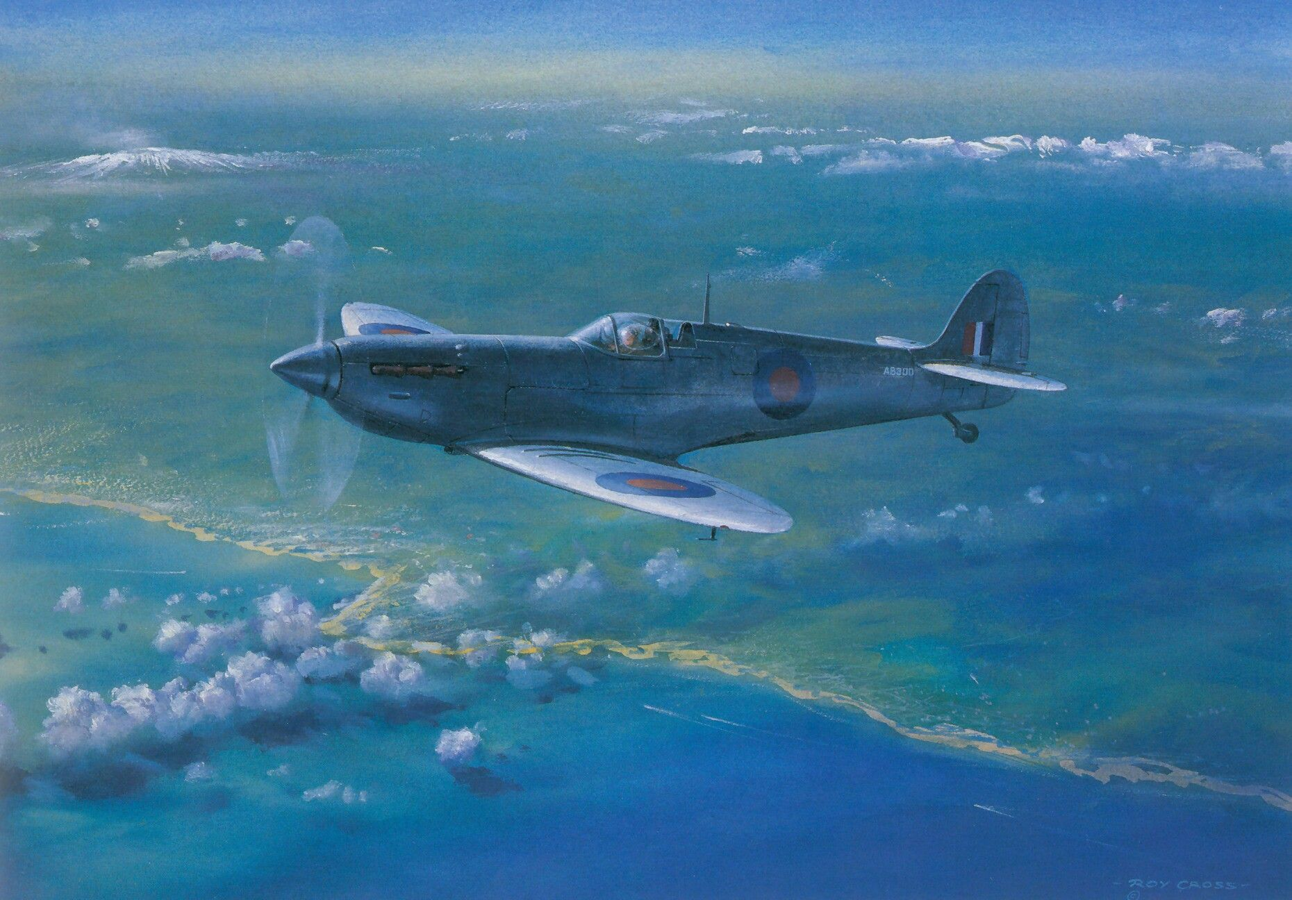 """Spitfire"" PR. l (Reconocimiento Fotográfico) Wwii plane"