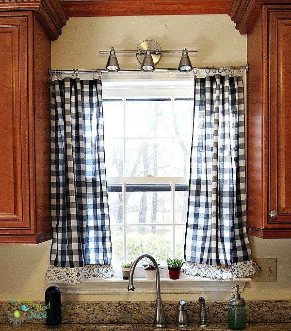 frugal decorating kitchens curtains kitchen kitchen curtains rh pinterest ch