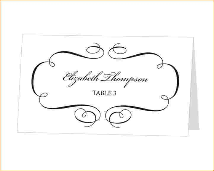 table place cards template for word