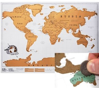 This Scratch Map Is A Special Way To Mark Where You Have Traveled - Where i have traveled map