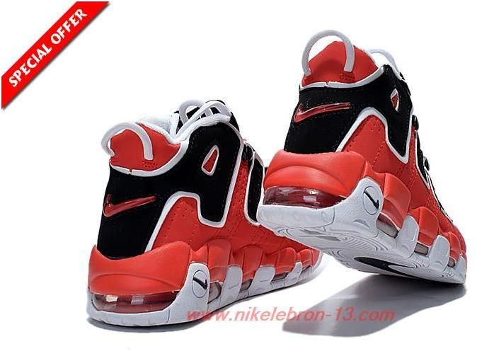 new styles 9ea11 6ce28 Womens 414962-002 Pippen RED BLACK WHITE Nike Air More Uptempo3