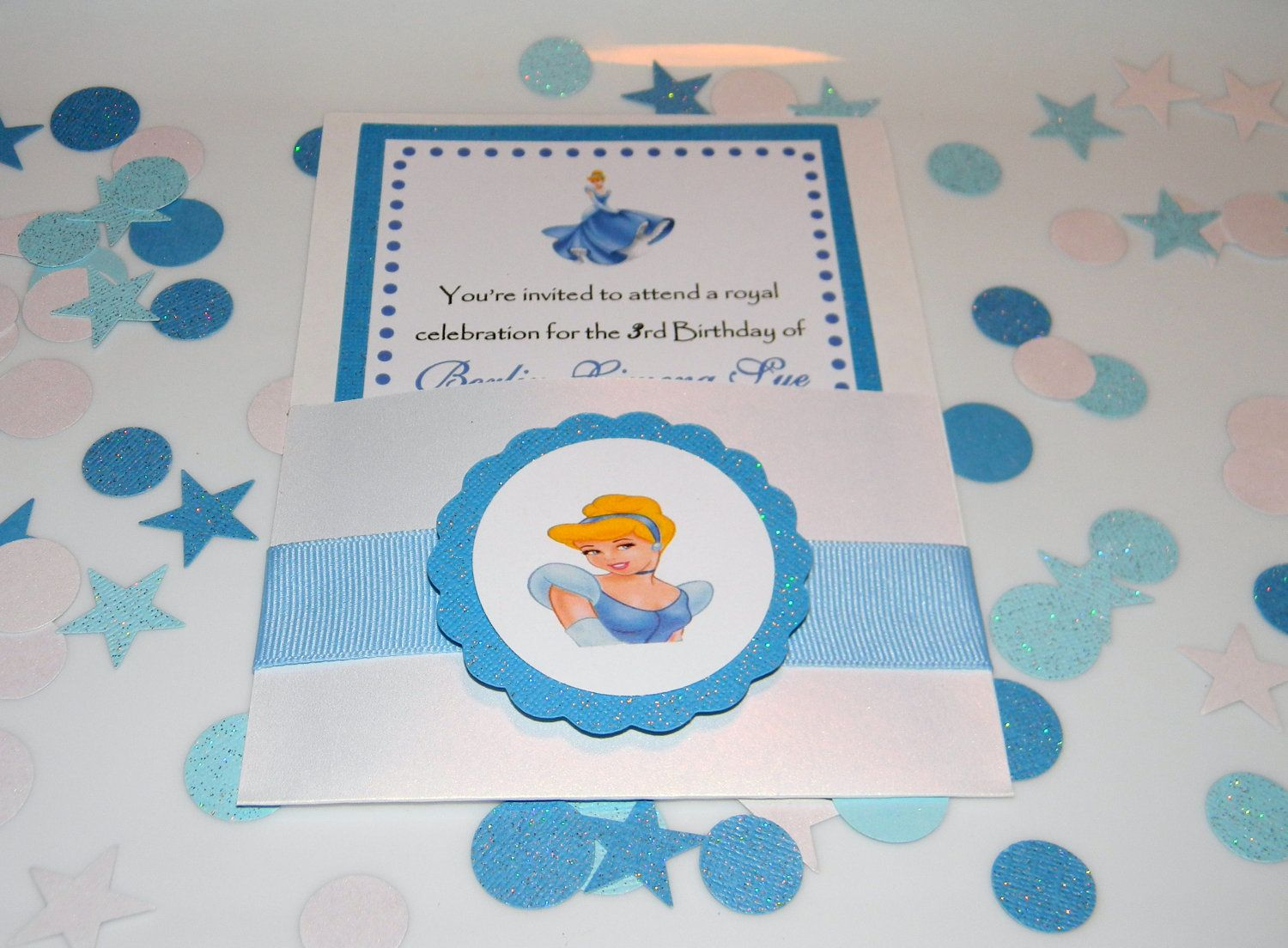 handmadest birthday party invitations%0A Cinderella Birthday Party Invitations by YourPartyShoppe on Etsy