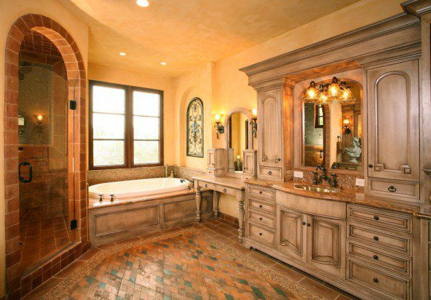 Mediterranean Master Bathroom Ideas: Pin By Mary Mertens On Bed And Bath