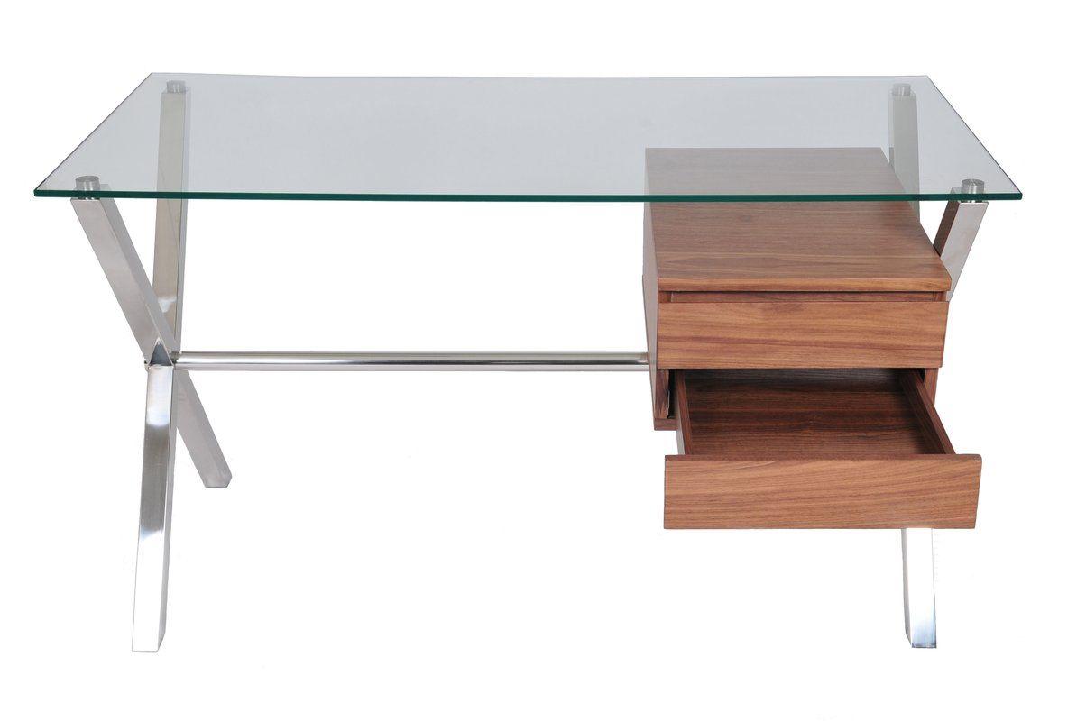 stylish and practical the wade logan emiliano 2 drawer writing desk rh pinterest ca