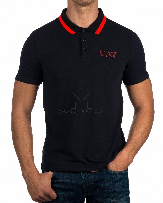 Polos Armani EA7 ® Rojo & Blanco | ENVIO GRATIS