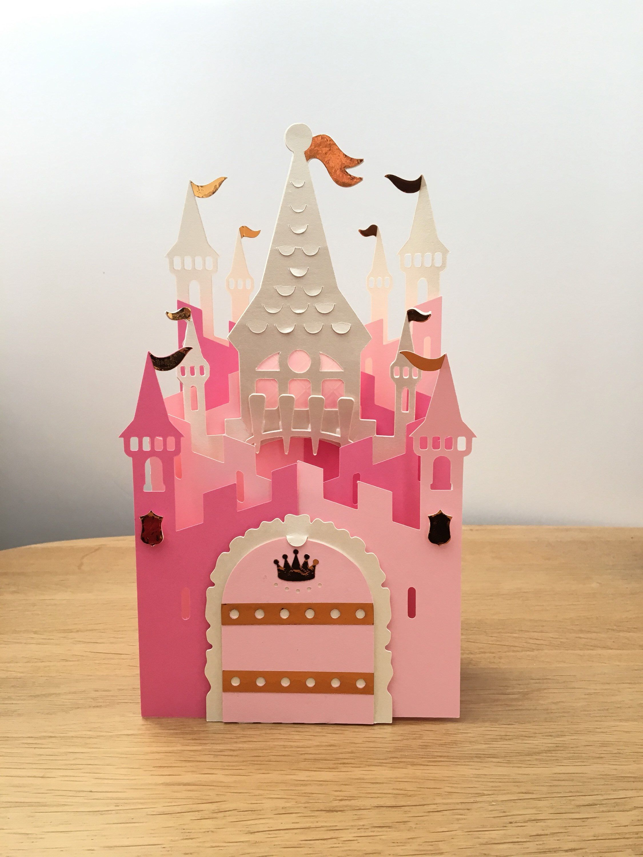 Pop Up Castle Card For Daughter Cascade Card For Special Etsy In 2020 Princess Card Handmade Birthday Cards Handmade Envelopes
