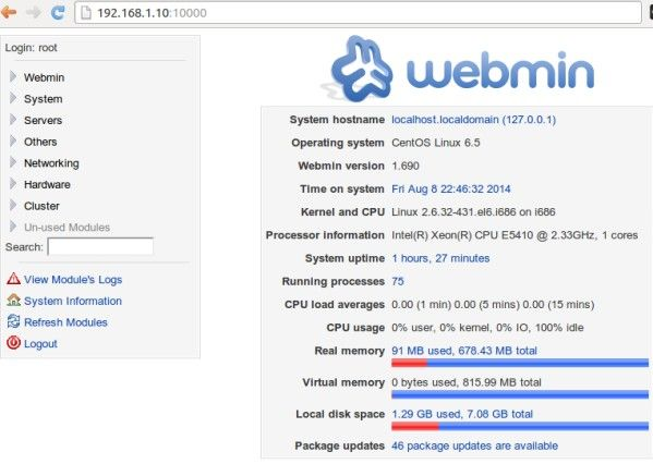 How To Install Webmin On Centos 6 Installation Linux Networking