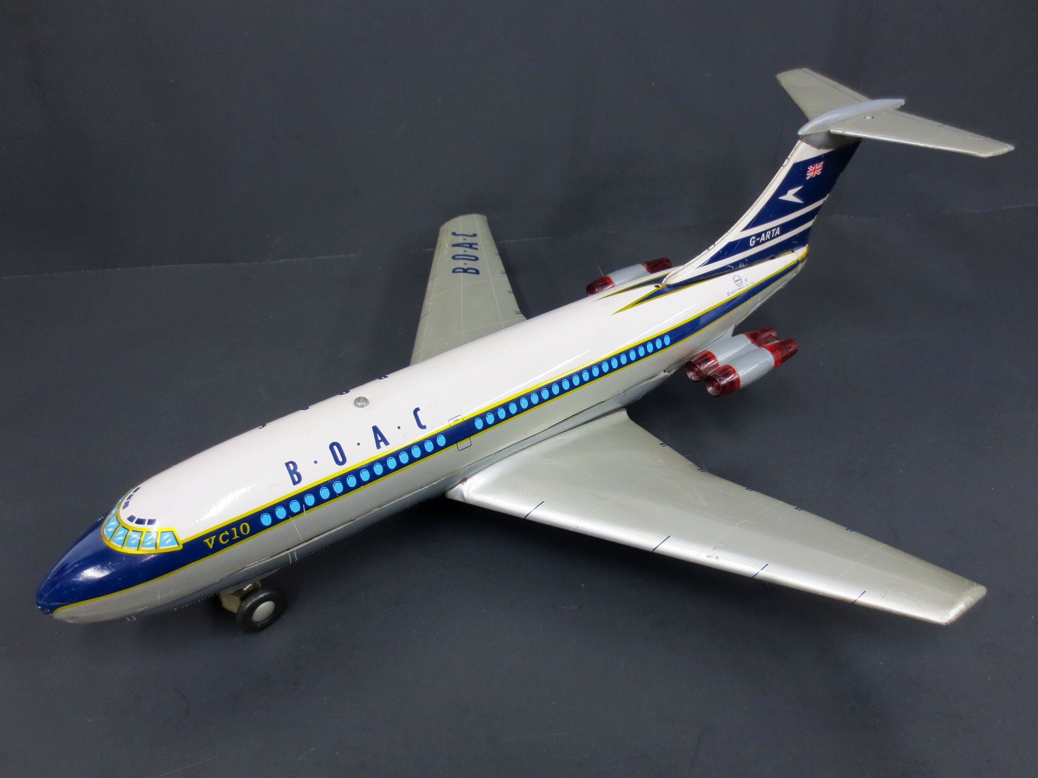 Vintage Marx Toy Boac Airlines Airplane 15 Quot Boeing Vc10