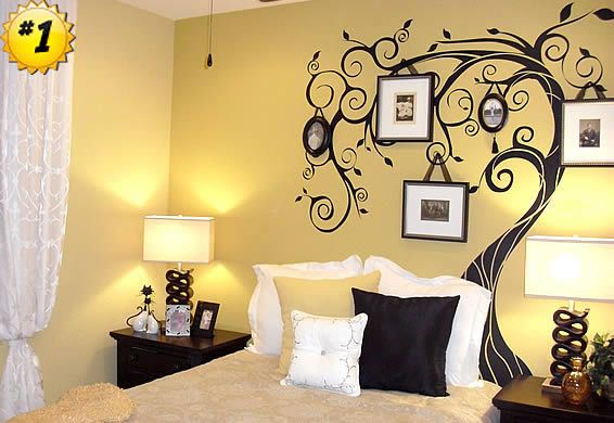 Glamour Of Wall Decoration With Stickers | Photo tree, Family trees ...