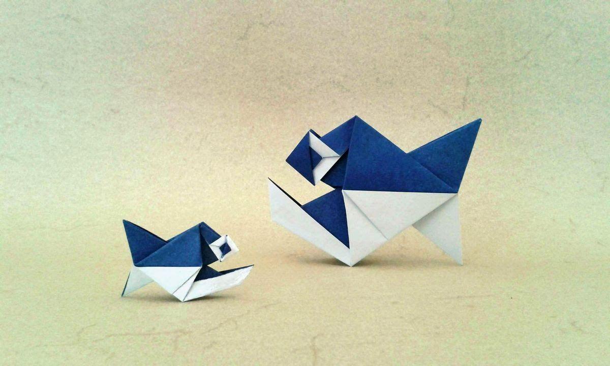 Origami piranha fish alexander kurth tutorial andere origami piranha fish alexander kurth tutorial jeuxipadfo Image collections