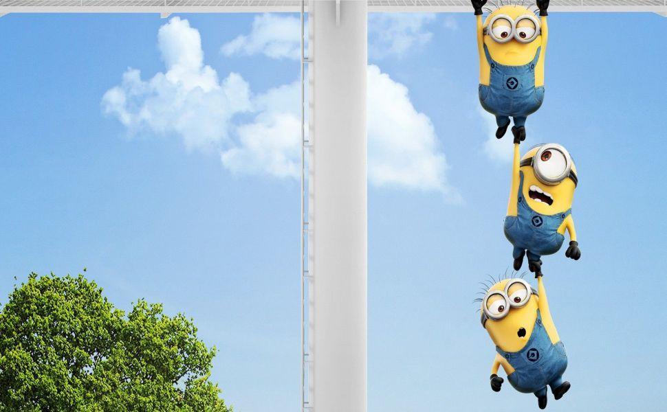 Minions Hanging Hd Wallpaper Minion Wallpaper Hd Minions