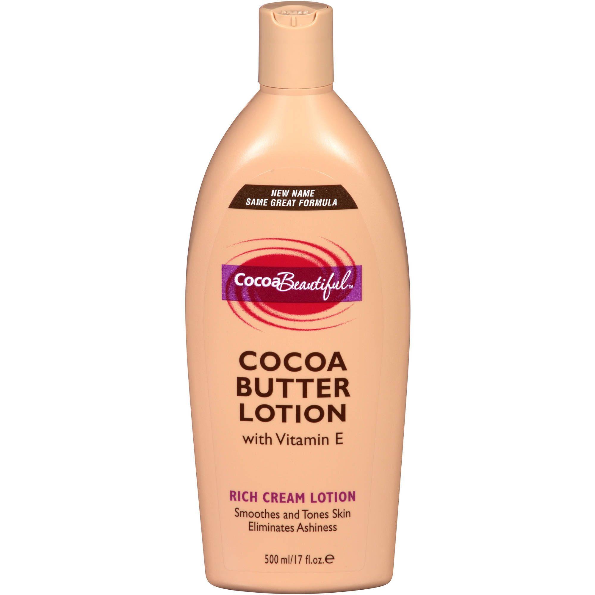 Cocoa Beautiful Cocoa Butter Rich Cream Lotion 17 Fl Oz Walmart Com Cream Lotion Cocoa Butter Lotion Butter Lotion