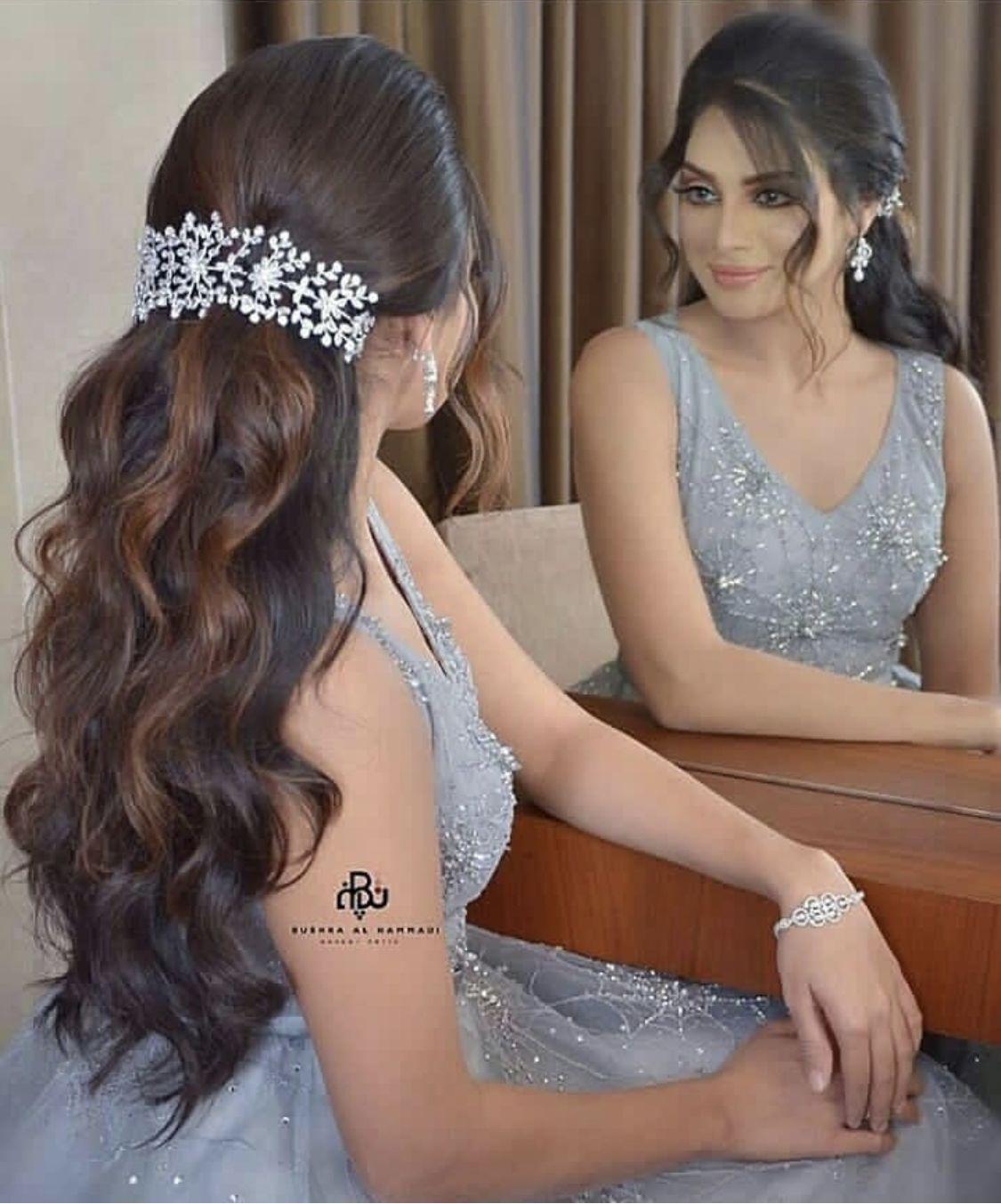 تسريحه ناعمه وانيقه Beautiful Hairstyle Seegetwear For More Hairstyle Styl Wedding Hair Trends Wedding Hair Inspiration Bollywood Hairstyles