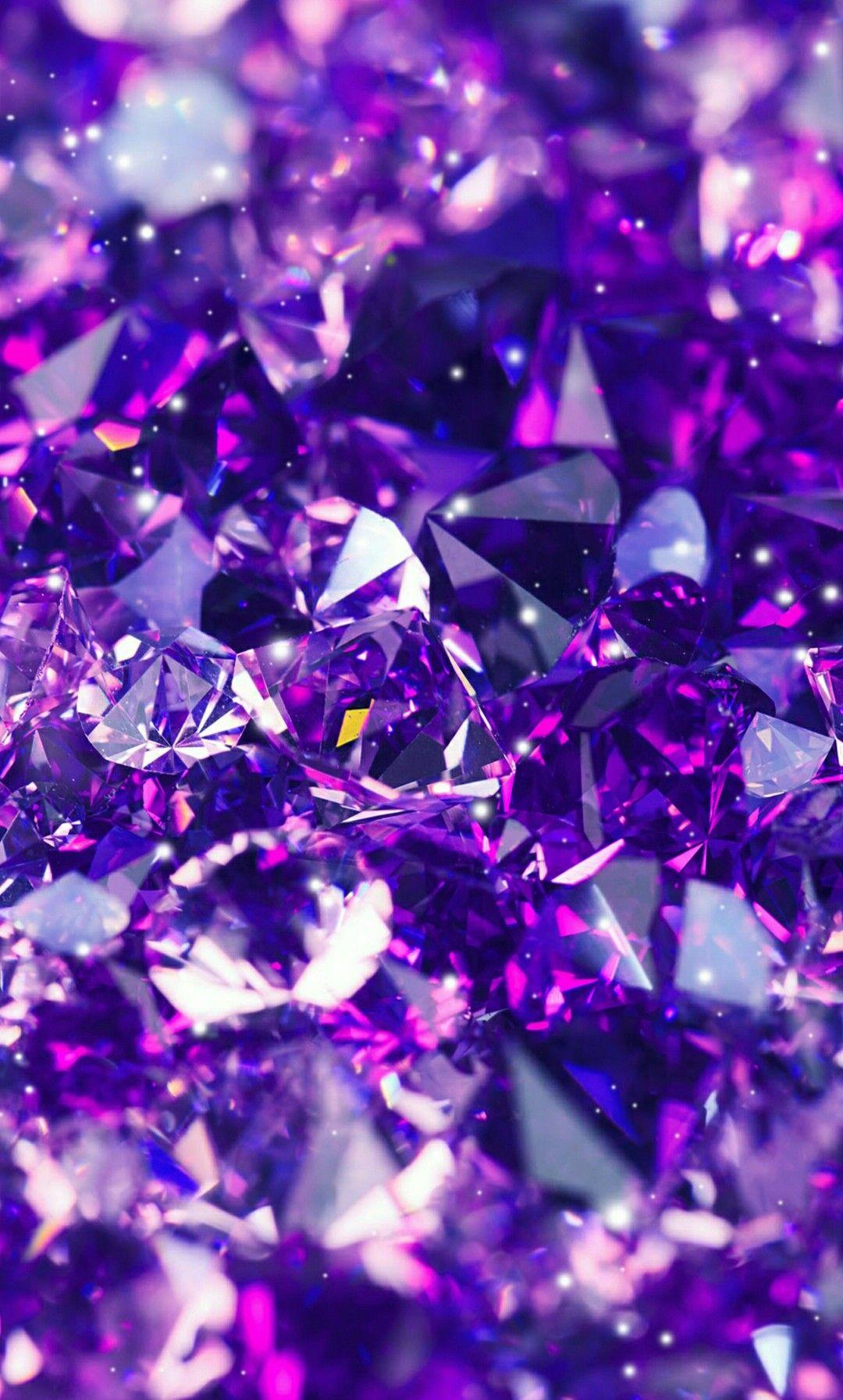 purple // gems Papel de parede galáxia roxa, Wallpapers