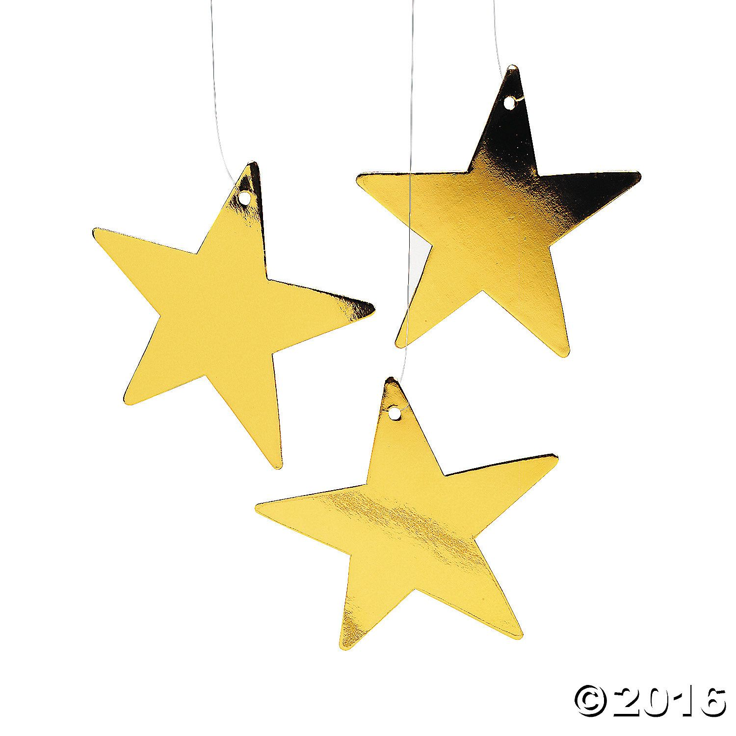 Gold Small Metallic Stars | Hollywood theme, Metallic and Wall ...